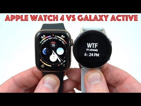 Apple Watch Series 4 LTE vs Samsung Galaxy Watch Active