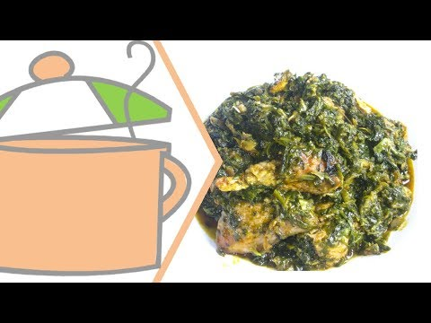 Nigerian Vegetable Soup (Edikang Ikong) with Spinach & Lamb's Lettuce   All Nigerian Recipes