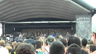 Abandon All Ships - Bro My God (Intro) Live HD Warped Tour 2011 7/24 Monmoth Park Raceway