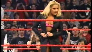 WWE-Trish Stratus vs Terri Lingerie Paddle Pole Match