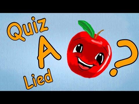 ABC Lieder deutsch - ABC Lernspiel für Kleinkinder - Buchstabe A Quiz