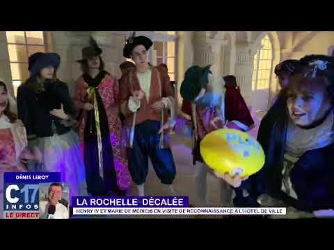 Henri IV & Marie de Médicis en visite à l'Hotel de ville de La Rochelle