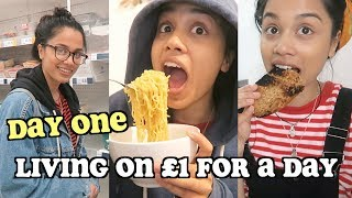 living on £1 a day for a week - DAY ONE | clickfortaz