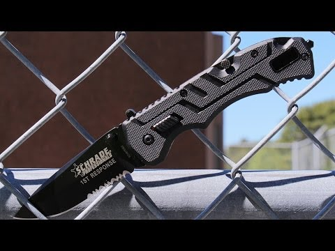 Schrade SCH911DBS Assisted Opening Folding Knife – Best Assisted Opening Blade First Responders