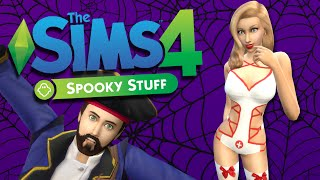 SPOOKY PARTY - Sims 4 Spooky Stuff Pack + Halloween CC - The Sims 4 Funny Highlights #31