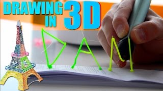 Drawing In 3D using the 3DOODLER
