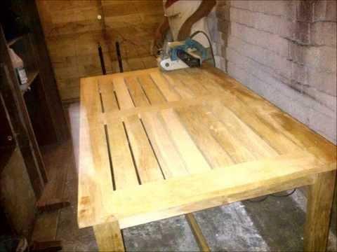 Mesa de jardin (madera de teca)