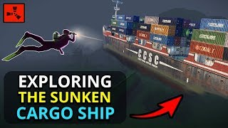 Searching For LOOT On The SUNKEN CARGO SHIP!! - Rust Custom Map Survival Ep2