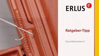 Videotipp: ERLUS Sturmklammer II