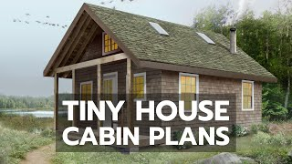TINY HOUSE CABIN PLANS: Worlds Most Complete DIY Video Building Course