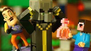НУБик БОРЬКА и БАБУЛЯ - Лего НУБик Майнкрафт ФНАФ Мультики - LEGO Minecraft FNAF Мультфильмы