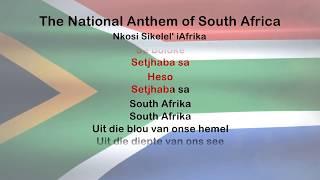 South Africa Anthem Text - National Anthem
