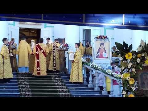 Праздничная Архиерейская Литургия.  Молитва о мире на Украине