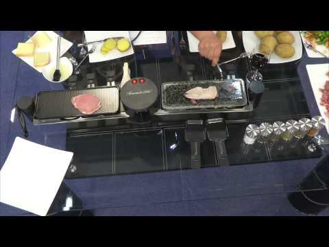 Rosenstein & Söhne Raclette für 8: halb Grill, halb heißer Stein