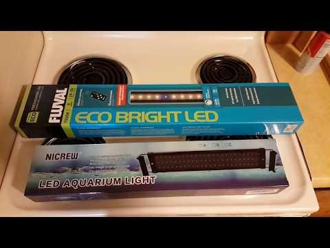 NICREW LED AQUARIUM LIGHT vs Fluval ECO BRIGHT LIGHT