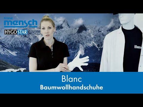 Atmungsaktive, weiche Handschuhe aus Baumwolle - BLANC - Franz Mensch GmbH