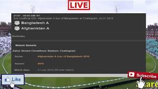 Bangladesh A Vs Afghanistan A Live | Live Cricket Match Today | Ban A Vs Afg A | Afg A Vs Ban A Live