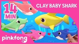 Clay Baby Shark and more | Clay Time | +Compilation | Pinkfong Crafts for Children