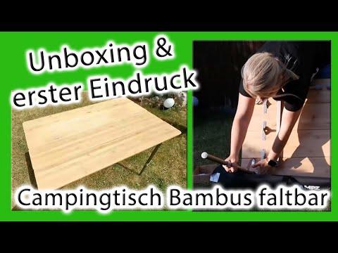 Unsere Erfahrung | Campingtisch CAMPZ Bamboo Folding Table | faltbarer Bambus Tisch | eBay