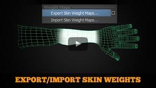 Save Skin Weights in Maya
