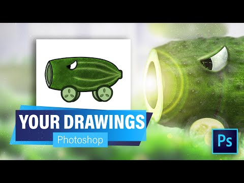 , title : 'Photoshopping YOUR PvZ Drawings!! | Plants vs Zombies Character Photoshop