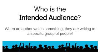 Author´s Purpose and Intended Audience