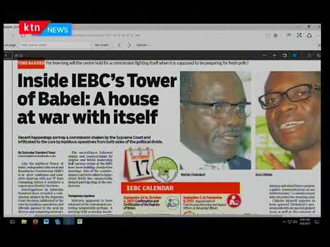 IEBC's 'Tower of Babel' shake's up as Chairman Wafula Chebukati allegedly sent a memo to CEO Chiloba