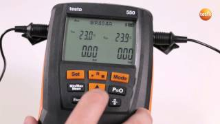 Switching Screens On The Testo 549 / 550 / 557