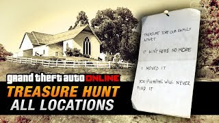 GTA Online Treasure Hunt   All 20 Locations [Double Action Revolver]