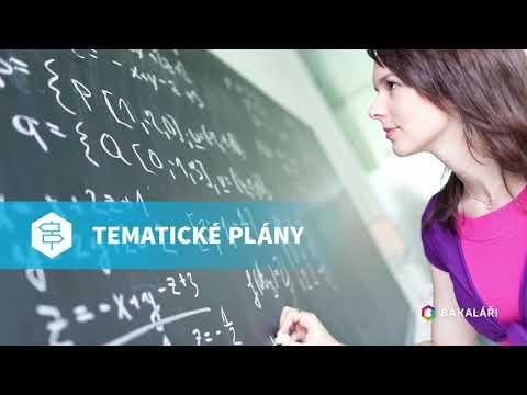 BAKALÁŘI - Tematické plány
