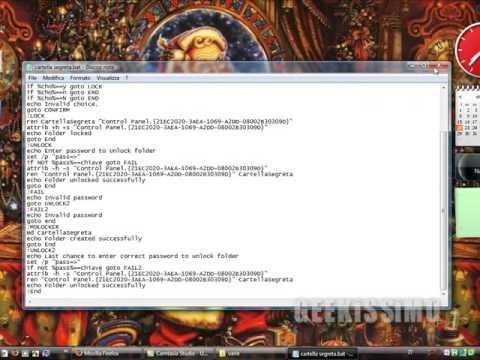 Video Tutorial: come creare una cartella protetta da password (senza programmi aggiuntivi)