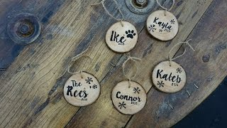 How To DIY Personalized Wood Slice Ornaments - DIY Crafts Tutorial - Guidecentral