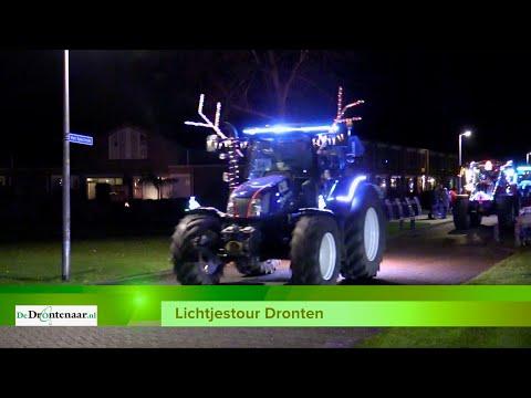 VIDEO | Nogmaals alle deelnemers aan de Lichtjestour, nu op de hoek Spectrum/Oost