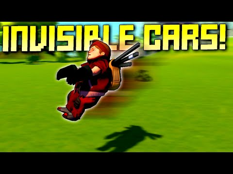 Racing Completely Invisible Cars Has Unexpected Challenges!  - Scrap Mechanic Multiplayer