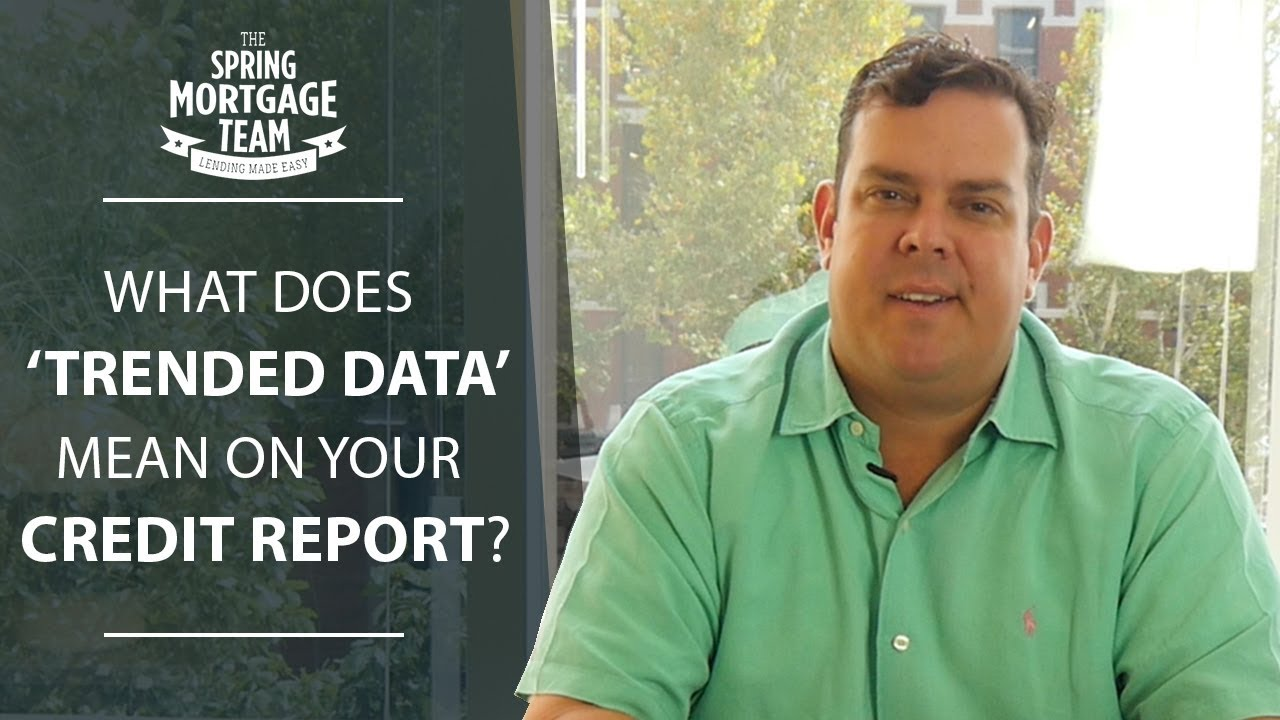 Trended Data on Your Credit Report
