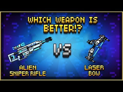 Pixel Gun 3D - Alien Sniper Rifle VS Laser Bow