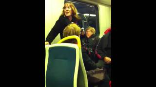 Crazy train lady mad @ gillard
