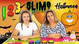 123 Slime HALLOWEEN !! Slime Challenge | Juegos Con Slime