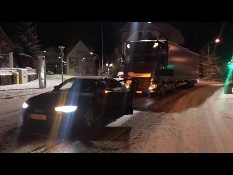 Audi A6 Quattro & 40 Tonner! QuattroPower: Schramberg 8. Dezember 2017 - Wintereinbruch