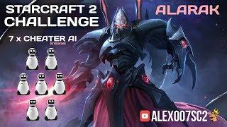 StarCraft II Challenge: ALARAK vs 7 ИИ-читеров. Один против семи!