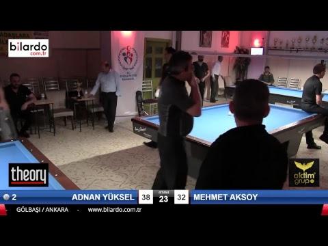 ADNAN YÜKSEL & MEHMET AKSOY Bilardo Maçı - AKSOY BİLARDO 3 BANT TURNUVASI-Final