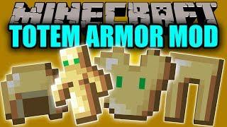 TOTEM ARMOR MOD - Muere Y Resucita 16 Veces Con Esta Armadura - Minecraft Mod 1.11.2 Review