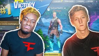 I pretended to be FaZe Tfue's 'Lost' Son for 24 Hours in random games...