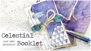 CELESTIAL BOOKLET and NEW JOURNALS! | Fun Fold-Out with Pockets and a New Closure | VectoriaDesigns