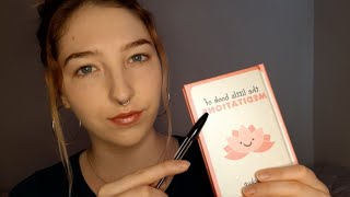 ASMR Whispering, Tapping & Letter Tracing 😴