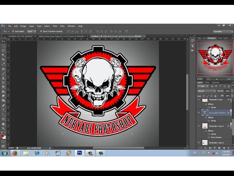 cara mudah membuat  logo komunitas club motor