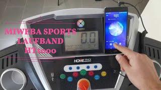 MIWEBA SPORTS LAUFBAND HT1000  ★40cm Laufbandbreite ★0%, 3% oder 6% Steigung ★16km/h sind möglich