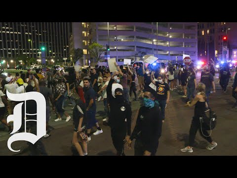 Peaceful protest for George Floyd turns heated in downtown Dallas