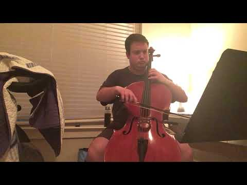Recording of the Allemande from Bach Cello Suite No. 4 in E Flat Major