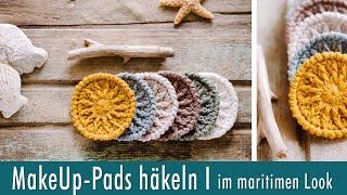 MakeUp-Pads / Abschminkpads häkeln I im maritimen Look I